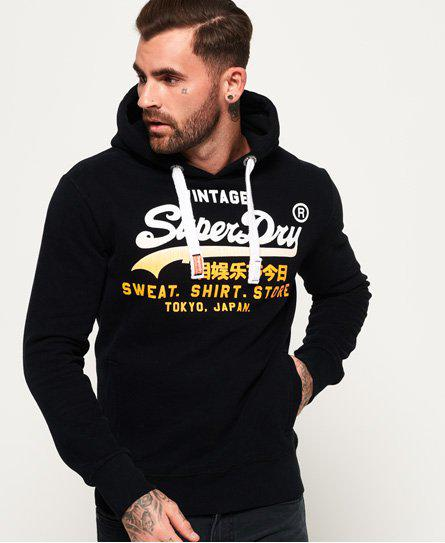 Superdry Sweat Shirt Store Fade Hoodie in Black for Men - Lyst