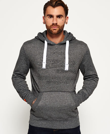 Superdry Tops | Sweat Shirt Store Embossed Hoodie Dark Smoke Grit
