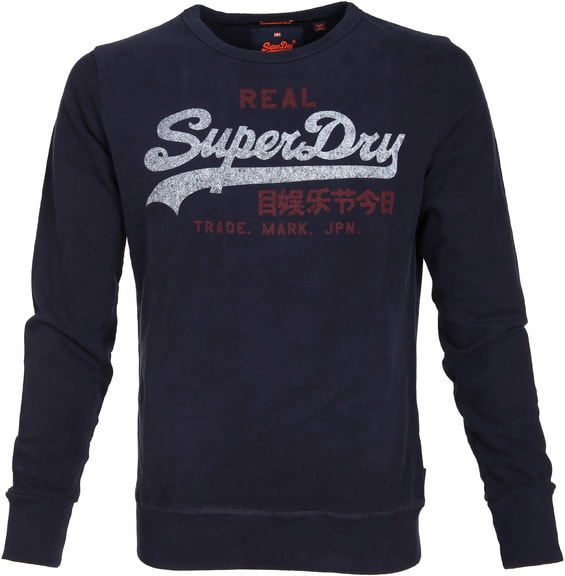Superdry Sweater Logo Navy order online | Suitable