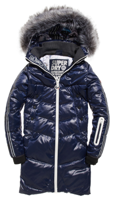 Superdry Sd Glacier Isobar Down Jacket W Iso Blue : Winter Jackets