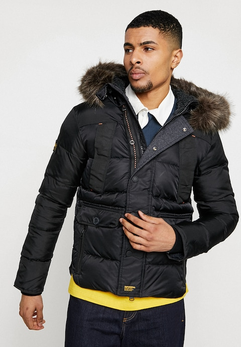 Superdry CHINOOK - Winter jacket - black - Zalando.co.uk