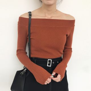 Buy Dute Boatneck Sweater | YesStyle