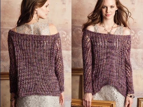 26 Boatneck Sweater, Vogue Knitting Fall 2012 - YouTube