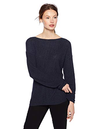 Sweater with a boat neckline