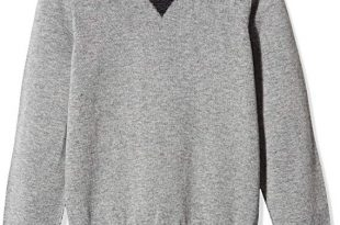 Amazon.com: Kid Nation Boys' Long-Sleeve Pullover Sweater with Elbow