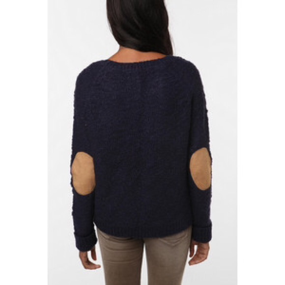 Urban Outfitters Sweaters | Navy Sweater With Elbow Patches | Poshmark