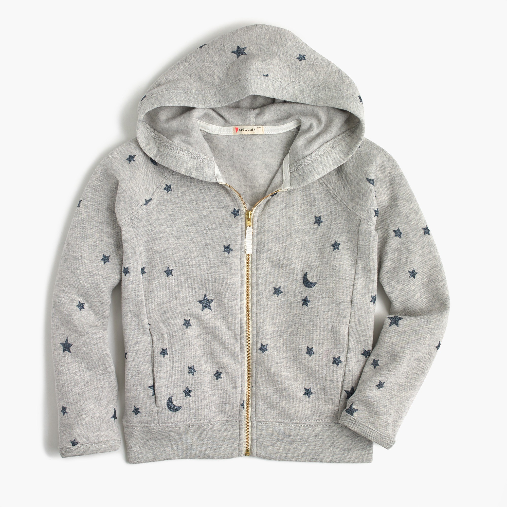Girls' full-zip hoodie in stars : Girl sweatshirts | J.Crew