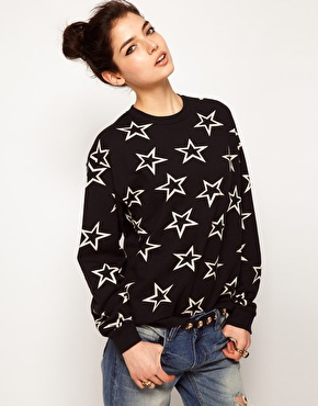 asos stars sweatshirt - Dora Fashion Space - Fashion and Lifestyle blog