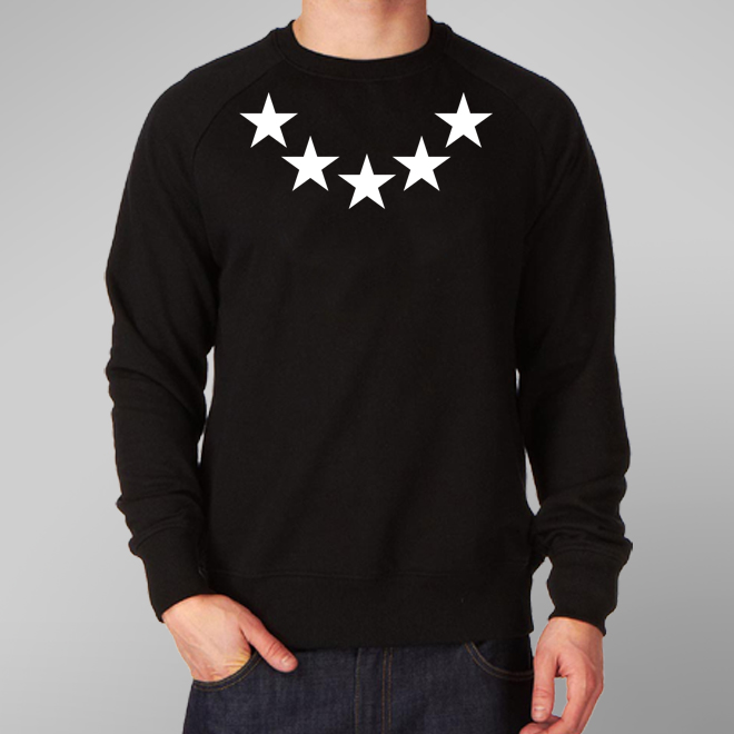 Buy 5 STAR SWEATSHIRT - UK Clothes Store