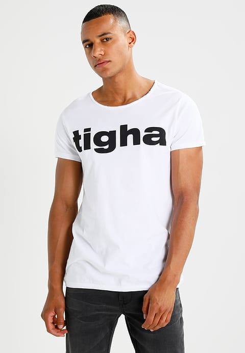 Flawlessly T-Shirt Men Print White White Tigha Logo