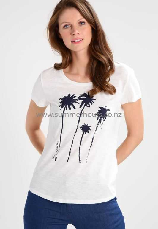 Women's Print T-Shirt | Off White TOM TAILOR DENIM Fashion T-Shirts