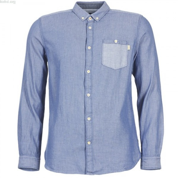 Tom Tailor INIDULLE Blue Clothing long-sleeved shirts Men mPYpREfj
