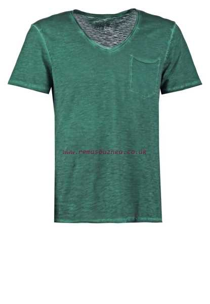 Glamour Denim T Shirt Tom Tailor Green Men's Basic Fit Basic T Shirts