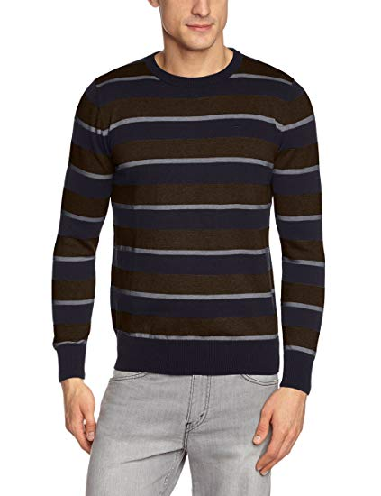 Tom Tailor Men's Basic Stripe Sweater/408 Long Sleeve Sweatshirt