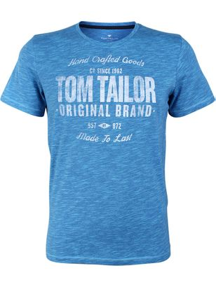 Tom Tailor Men's T-Shirt Fine Dyed Print | eBay