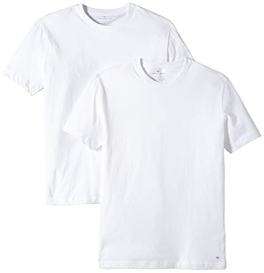 Tom Tailor T-Shirt, Crew-Neck, Double, White Oder Black | Amazon.com