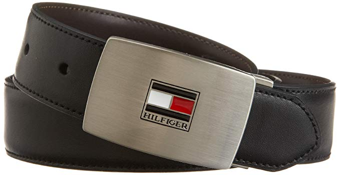 Tommy Hilfiger Belt Gift Set - Leather Belts for Men 2 Adjustable