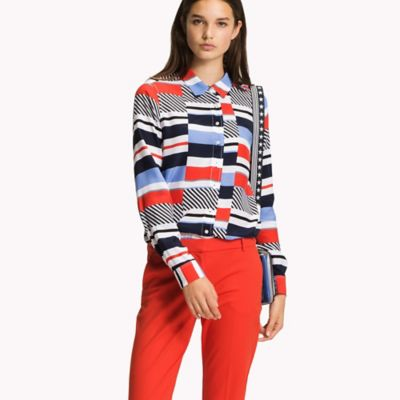 Statement Stripe Blouse | Tommy Hilfiger