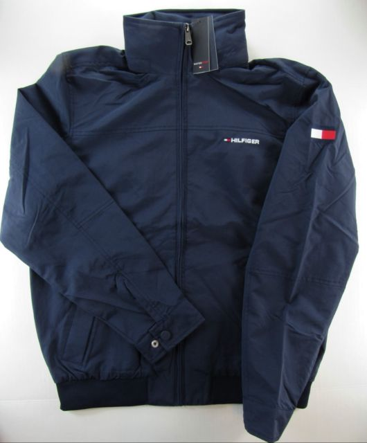 Tommy Hilfiger Men's Jacket Size L Large Navy Blue 2 Front Pockets