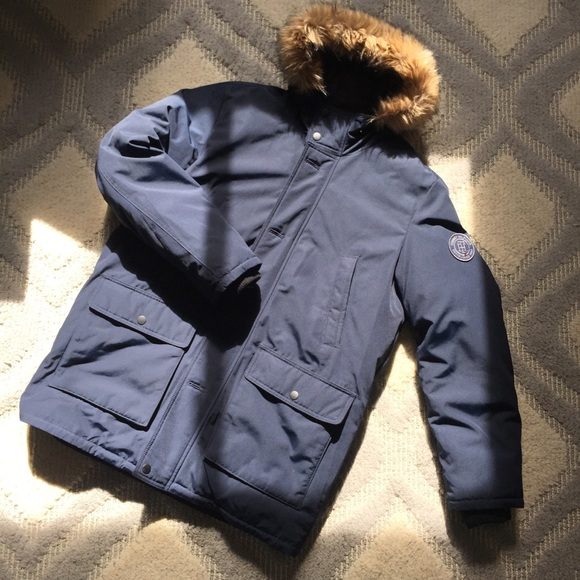 Tommy Hilfiger Jackets & Coats | Winter Coat Mens Large Navy Blue