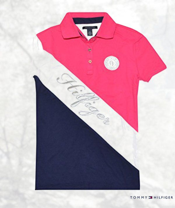 Tommy Hilfiger Women Graphic Pieced Polo Shirt | Shirts | Pinterest