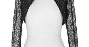 Women Jacket Black White Lace Shrug Bolero Wedding Jackets Long