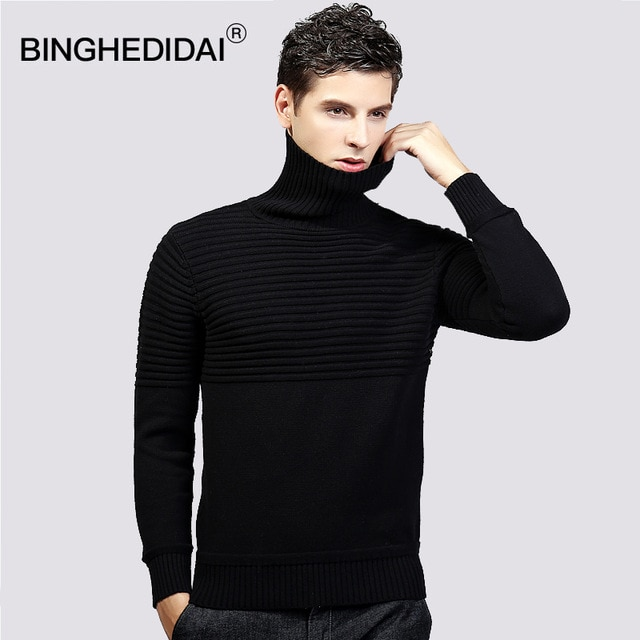 2018 Spring Knitted Pullover Sweater Turtleneck Sweater Men Gift