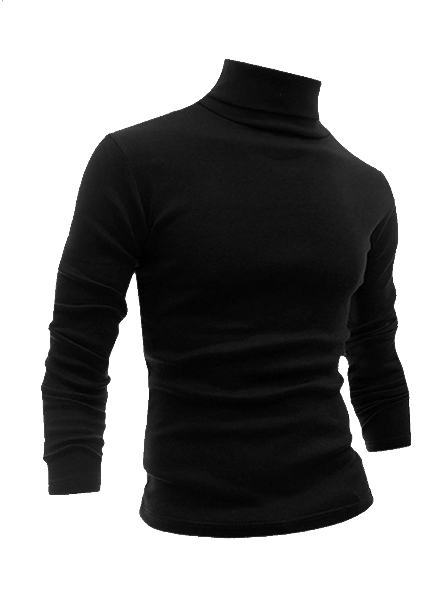 Unique Bargains - Men's Turtle Neck Full Sleeves Stretchy Slim Fit