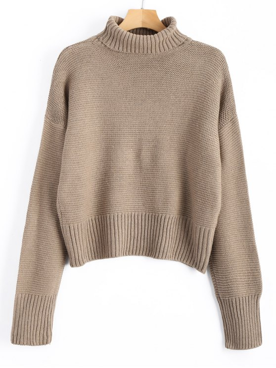41% OFF] 2019 Turtleneck Sweater In CAMEL ONE SIZE | ZAFUL