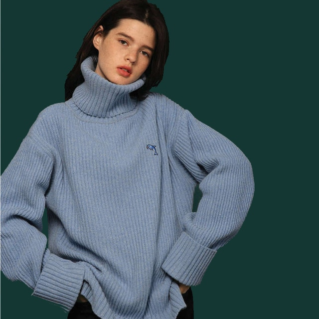 Oversized Winter Turtleneck Sweater Pullover Sweaters Women&men