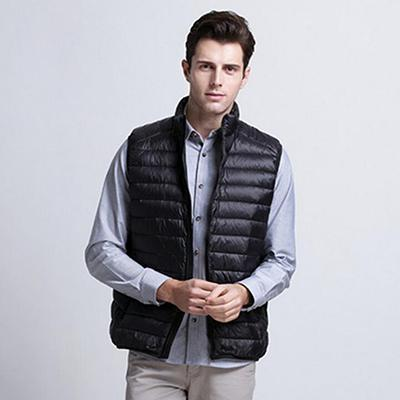 Men Sleeveless Ultralight White Duck Down Vest Male Casual Vest Mens