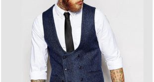 New British Style Slim Woollen cloth Double Breasted Sleeveless