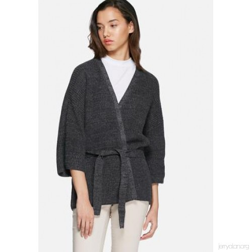 Beaton knit cardigan - dark grey melange VILA Knitwear 27446794