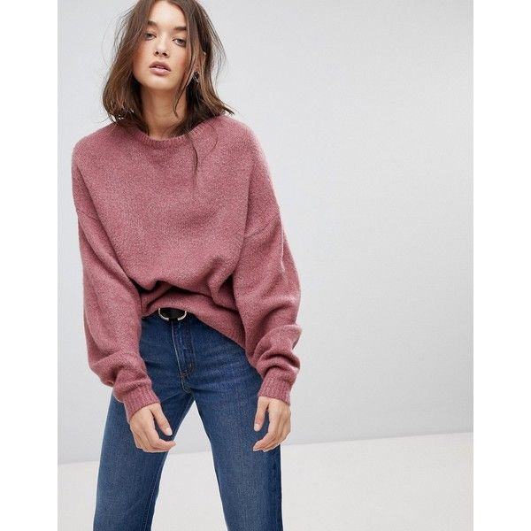Vila Oversized Sleeve Jumper ($56) ❤ liked on Polyvore featuring