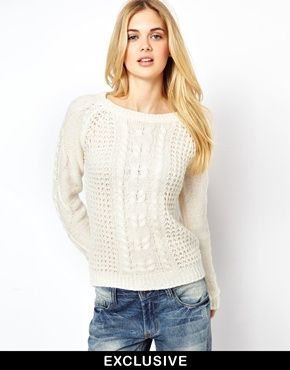 Vila Swirl Cable Knit Sweater | Clothes: Cold Weather | Ropa, Me gustas