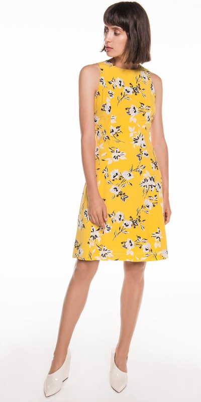 Citrus Floral Viscose Dress | Buy Dresses Online - Cue