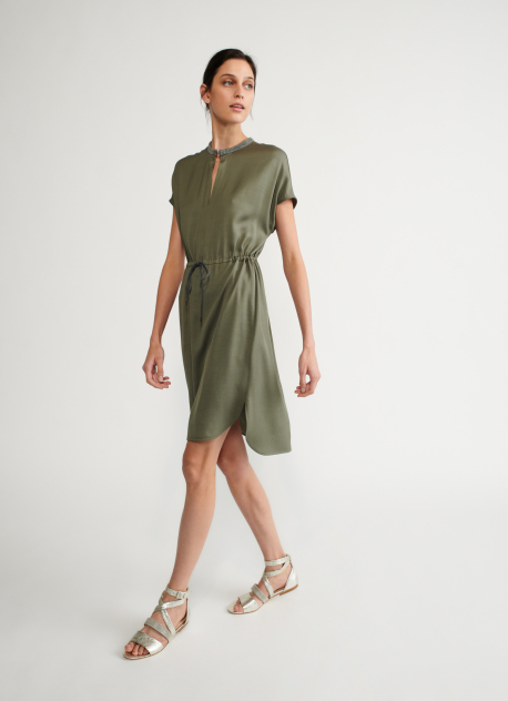 Viscose dress, laurel | Dresses | Clothing | Fabiana Filippi Shop Online