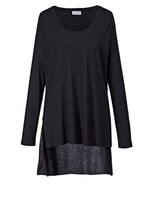 Boutique Damen Vokuhila- Shirt - Schwarz :