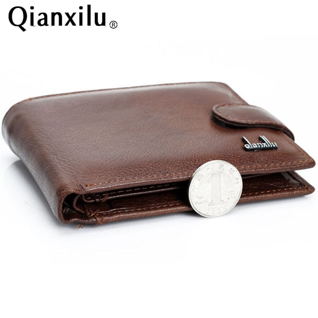 wallet men 100% genuine leather wallets men real leather purse with