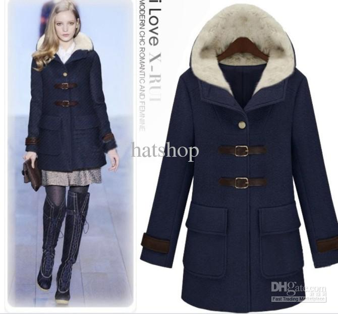 2019 Hot Sail Womens Coat Hooded Trench Coat Sexy Winter Coats Wind