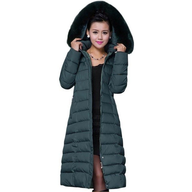 Plus Size 4XL 5XL women cotton Hood Winter Coat Women Large Faux Fur