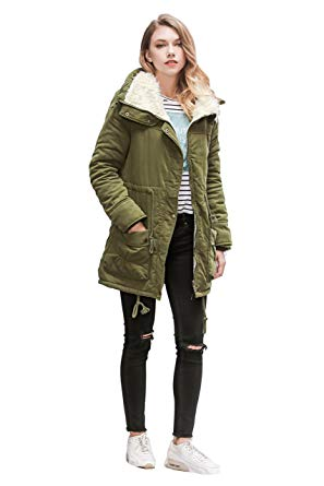 ACE SHOCK Winter Coats for Women Plus Size, Faux Fur Lined Parka