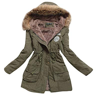 Amazon.com: Womens Hooded Warm Winter Coats Faux Fur Lined Parkas