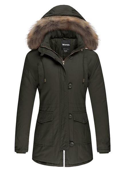 Women's Hooded Parka Cotton Padded Winter Coats u2013 Wantdo