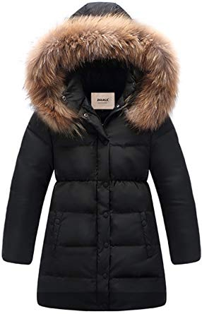 Amazon.com: ZOEREA Big Girls' Winter Parka Coat Puffer Jacket Padded
