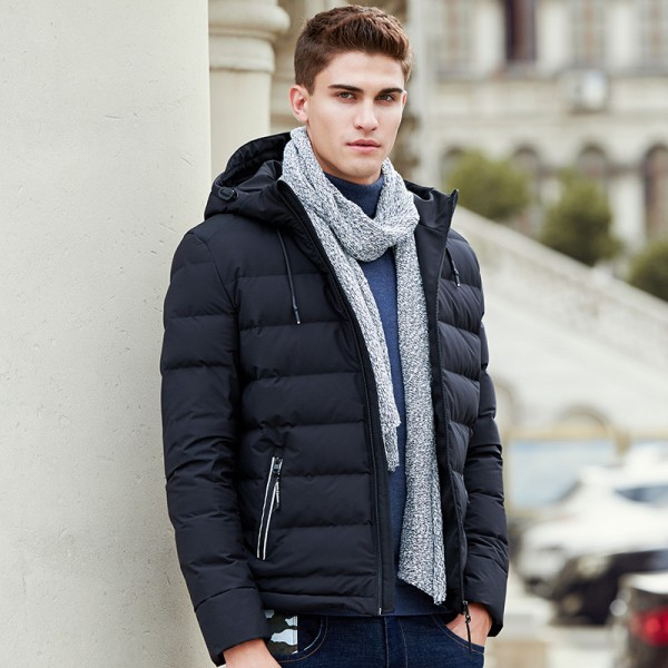 Buy Thick down jacket men brand clothing winter down coat male top