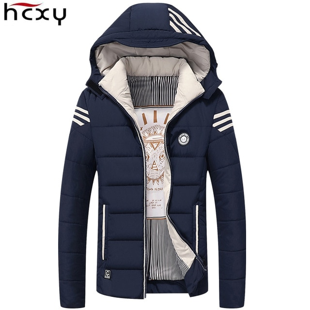 HCXY Men Winter Jacket 2017 Brand Casual Mens Jackets And Coats