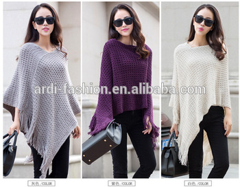 New Design Wholesale Knitting Pattern Ladies Winter Ponchos - Buy