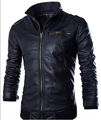 Amazon.com: EDC-OnSale Newest Motorcycle Leather Jackets Men Solid