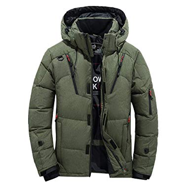 Amazon.com: Mens Trench Coat,Men Boys Warm Hooded Winter Coat
